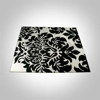 Rug – Decorative – Black/White