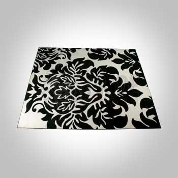 Rug – Decorative – Black/White