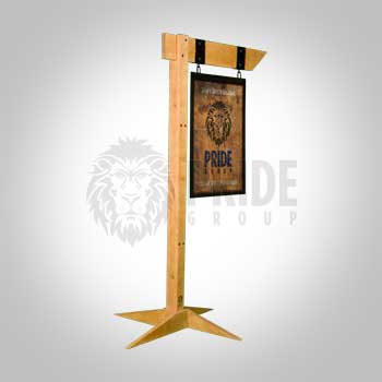 Sign Post – Rustic – Wood With Base