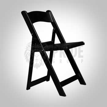 Chair – Resin Folding With Pad – Black