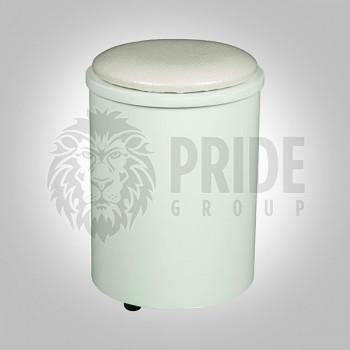 Stool – Mini – Leather Top – White