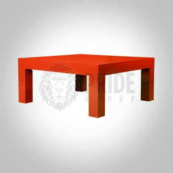 Coffee Table – Square – Red