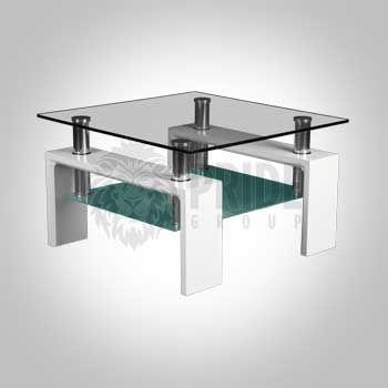End Table – Maxim – Glass/Frost – White