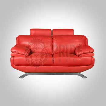 Love Seat – Cardinal – Leather – Red