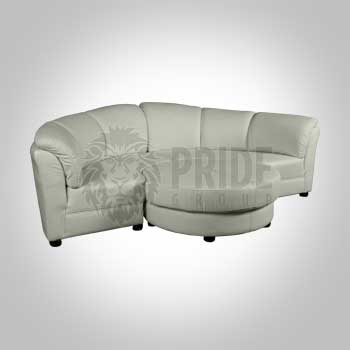 Sectional – Sofa – Leather – White