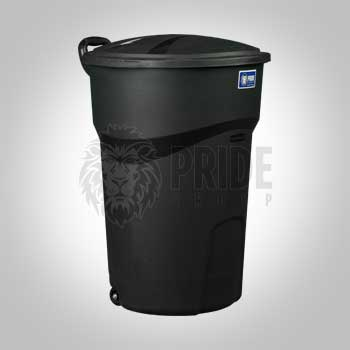 Trash Can – 30 Gallon – Lid – Black