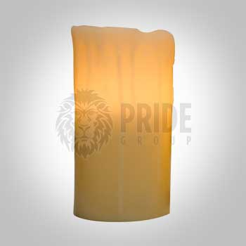 Flameless Pillar Candles 8″