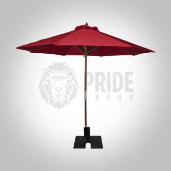 Market Umbrella 9' – Red