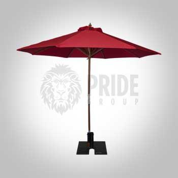 Market Umbrella 9' – Red